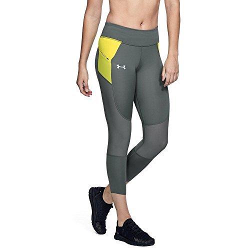 Unter Rüstung Athletic Leggings (Under Armour UA Speedpocket Run Crop LG Clay Green)