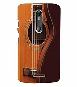 PrintVisa Music Guitar Strings 3D Hard Polycarbonate Designer Back Case Cover for Motorola Moto X3