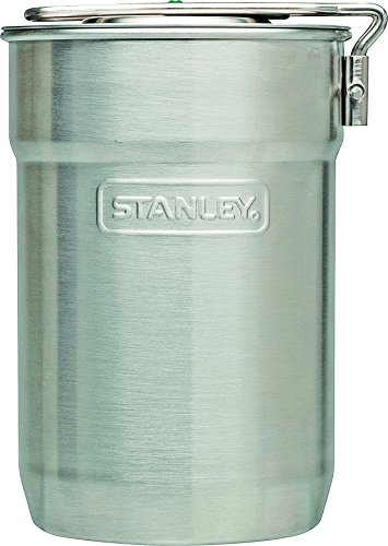 Stanley Stainless Steel Flask Adventure Camp Cook Set - Green/ Silver, 0.71 Litre