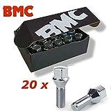 BMC 20 bulloni Ruota bulloni M12 x 1,25 26 mm Cono 60°.