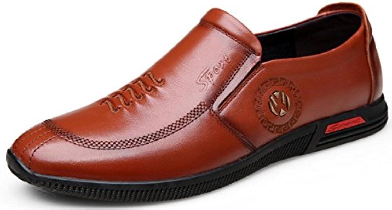 DHFUD Leder Herrenschuhe Lederschuhe Lässig Business Schuhe