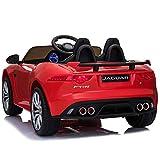 Homcom Voiture véhicule électrique Enfants Jaguar F-Type SVR coupé 12 V - V. Max. 8 Km/h Effets sonores + Lumineux Rouge
