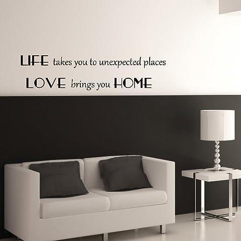 Love presenta Home-Adesivo da parete con scritta