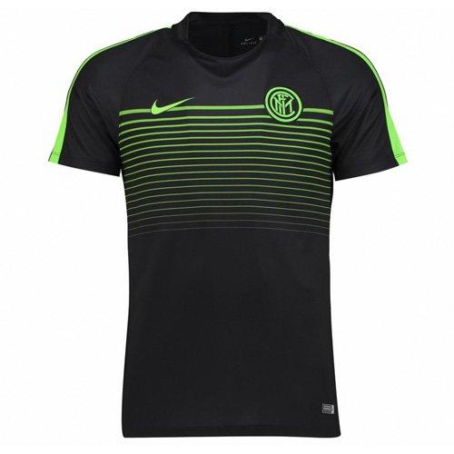 Nike Kinder Inter Mailand Y Top Short Sleeve Squad CL Fußball T-Shirt, Schwarz/Elektriche Grün, M