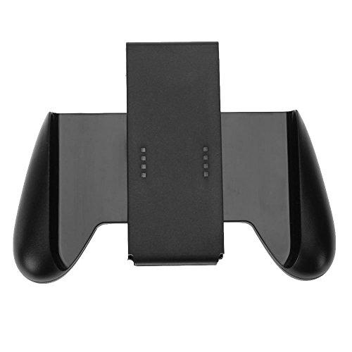 Amazingdeal365Handgriff / Halterung für Nintendo Switch Joy-Con, gummiert für zusätzlichen Komfort und gute Griffigkeit , Schwarz