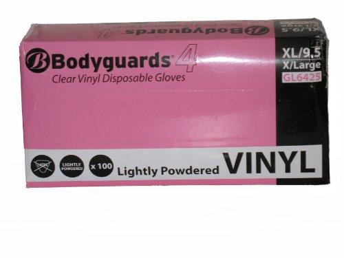 Preisvergleich Produktbild BODYGUARD GL6425 Vinyl Einmalhandschuhe, puderfrei oder leicht gepudert, 114