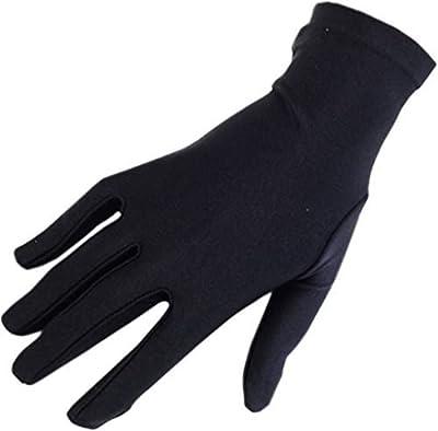 Krystle Women's Cotton Half Hand Protective Black Summer Gloves