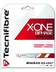 Tecnifibre X-One Biphase Squash Saite 10m Satz 1,18mm orange