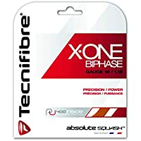 Tecnifibre X-One Biphase Squash Saite 10m Satz 1,18mm orange