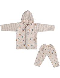 LK Vyapaar Pvt Ltd Unisex Cotton Winter Wear 2 Piece Hoodies (FIT-WINT-HOOD-PRINTED-PINK-M-5_6 - 9 Months)