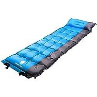 GEERTOP Esterillas Auto-inflables Colchoneta Automático Portátil Ligero 5cm de Grosor para Dormir de Acampada Senderismo Camping al Aire Libre (Azul)