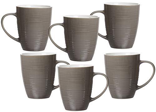 Ritzenhoff & Breker Kaffeebecher-Set Suomi, 6-teilig, je 310 ml, Taupe, Porzellan