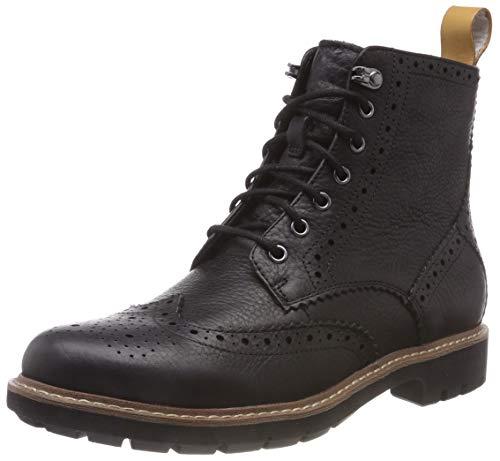 Clarks Herren Batcombe Lord Chelsea Boots, Schwarz (Black), 45 EU
