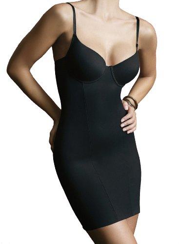 Ladymissalonghi Shapewear Long-Shirt mit Einlage vorgeformt 35968 Sassa Schwarz 75 C