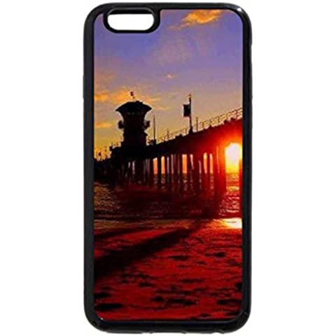 iPhone 6S Plus Case, iPhone 6 Plus Case, Sunset at Huntington Beach Pier