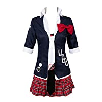 tianxinxishop Women Junko Enoshima Cosplay Costume Halloween Carnival Model Cosplay Costume Japanese High School Uniform, L