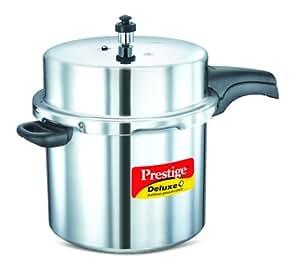 Prestige Deluxe Plus Induction Base Aluminium Pressure Cooker, 12 Litres,Silver