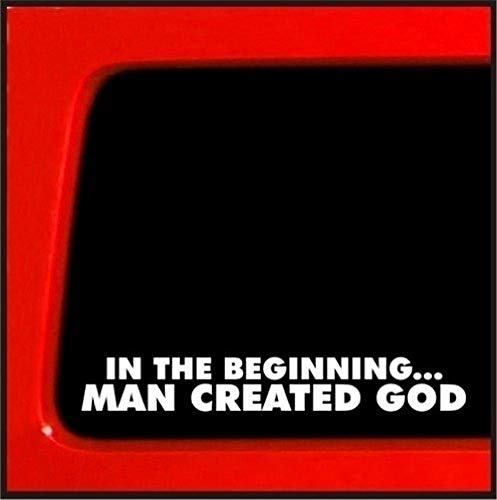 Auto Aufkleber am anfang mann erstellt gott aufkleber atheist aufkleber darwin evolution religion 20 cm