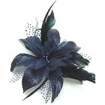 Top Brand Diseño de Luca Johnson UK Cool - azul marino de flores y para personas con movilidad reducida isla japonesa de plumas de