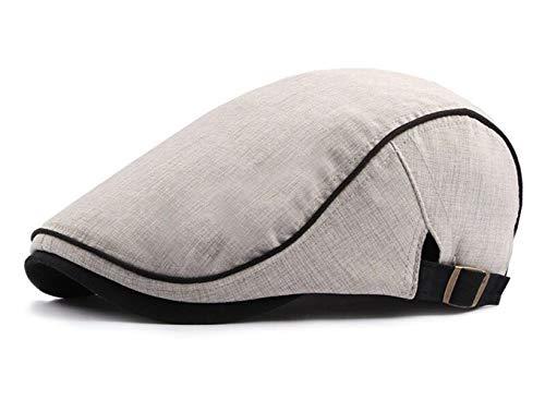 FOOKREN Unisex Flatcaps Schiebermütze Schirmmütze Ivy Gatsby Kappe (Beige) (Spring-sport Irish)