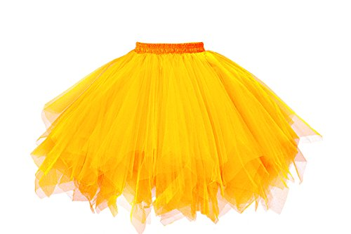 ntage Ballet Blase Firt Tulle Petticoat Puffy Tutu Gold Small/Medium ()