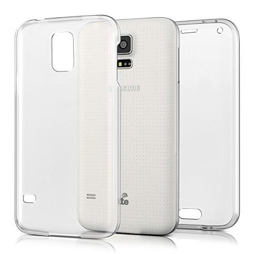 kwmobile Samsung Galaxy S5 / S5 Neo Cover - Custodia in Silicone TPU Fronte Retro - Front Back Case Protezione cristallina per Samsung Galaxy S5 / S5 Neo