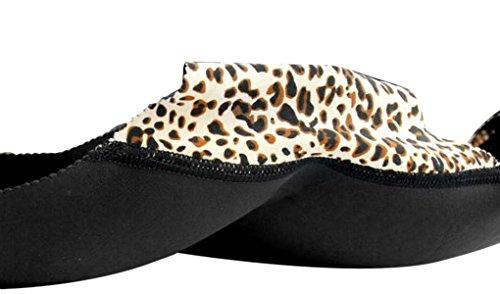 Bao Core Damen Push Up-Höschen - Low Rise- fest eingearbeitete, unsichtbare Polster vergrößern den Po und bieten tollen Push-Up-Effekt. Push-Up Slip Unterhose unterwäsche Boxer Mehre Farben M L Leopard