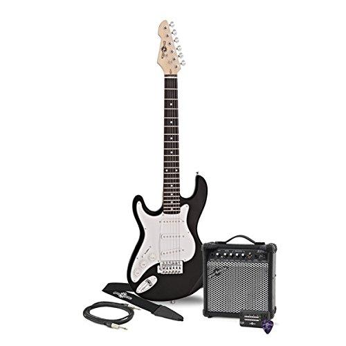 Guitarra Eléctrica LA 3/4 Zurda + Amplificador - Negro