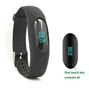 Willful Non-Bluetooth Pedometer Bracelet Fitness Tracker Wristband with Calorie Counter Walking Distance Step Counter Sleep Monitor Time / Date Display for Outdoor Running Walking (Black)