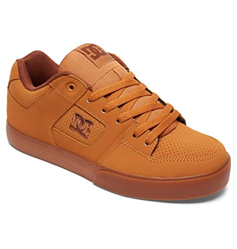 DC Shoes - Pure M Shoe - Sneaker, homme Blanc - Wheat/Dk Chocolate