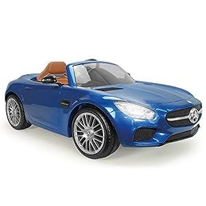 INJUSA - Coche Mercedes Benz GT a batería 6 V con marchas y control remoto, color azul (7172)