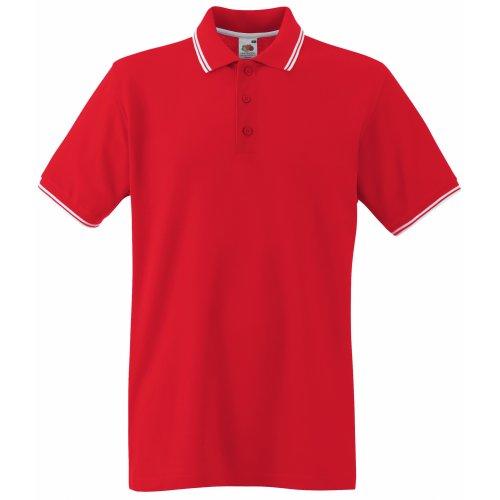 Fruit of the Loom Herren Poloshirt Red/White