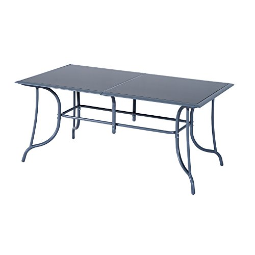 Outsunny Set Mobili da Giardino Tavolo con 6 Sedie Pieghevoli in Alluminio e Tessuto di Textilene - 5