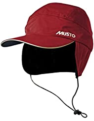 Musto Waterproof Fleece Lined Cap Red AE0080