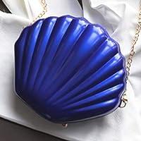 Shjiegan Superb Fashion Women Single Shoulder Bag Pearlite Leather Shoulder Chain Bag Girl Glossy Bag Chain Bag(None C)
