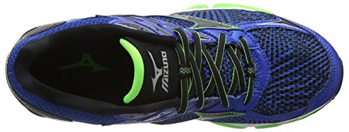 Mizuno Wave Enigma 6, Chaussures de Running Compétition Homme Bleu - Blue (Skydiver/Black/Green Gecko Viscotech)