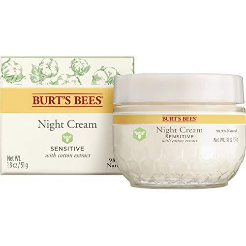 Burt's Bees Nachtcreme für empfindliche Haut mit Baumwollextrakt, 1er Pack (1 x 50 g)