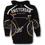 Amsterdam Hoodie Sweater Biketown Schwarz (Schwarz, XXL)
