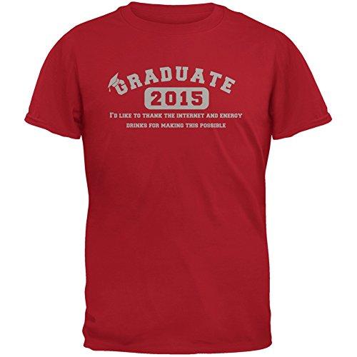 Graduate Internet Energy Drink Funny Graduation Red Adult T-Shirt