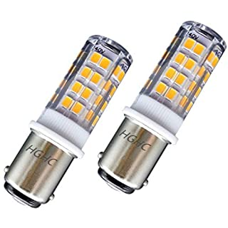 Ba15d LED 5W Sewing Machine Bayonet Bulb, AC220-240V Warm White 3000K Double Connect Ba15d SBC LED Bulb 35W Halogen Replacement, for Sewing Machine/Cooker Hood/Fridge Freezer/Appliance Lamps(2-Packs)