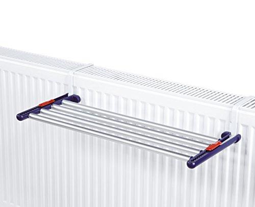 Leifheit Quartett 42 - Tendedero colgantes para radiador de acero inoxidable, 61.4x3.9x27.9 cm, colo