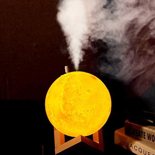 Purificador Aire Luz Noche Luna Humidificador Aromaterapia