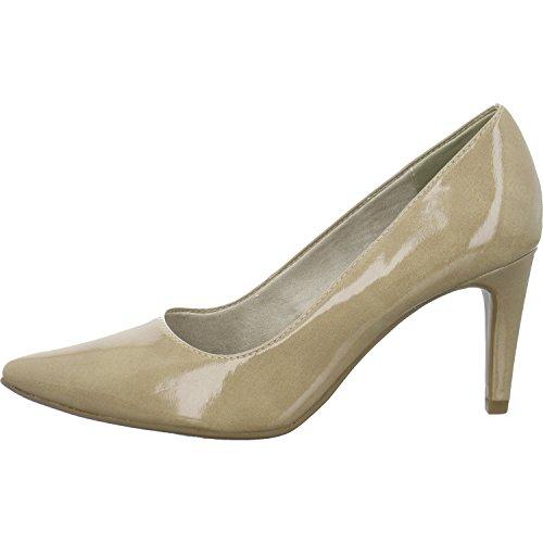 Tamaris 1-22447-21 Damen Schuhe Lack Pumps High Heels, Schuhgröße:38, Farbe:Beige