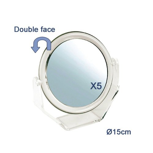 Miroir Double Face Grossissant 5x
