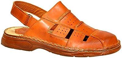 Cómodas Sandalias Ortopédica Hombre Cuero Real Búfalo Zapatos Modelo-838