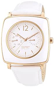 Esprit Collection Women's Quartz Watch tyche white rosegold EL101302F05 with Leather Strap