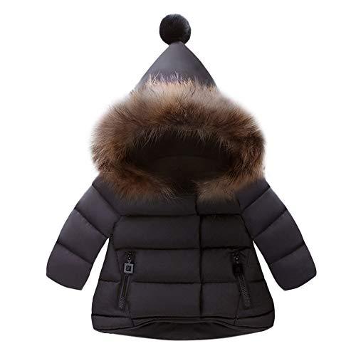 Elecenty neonata ragazzi giacche piumino con cappuccio classico ultra leggero parka zipper invernale per unisex bambine cappotto