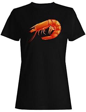 Camarones-Océano Sea Food camiseta de las mujeres m776f