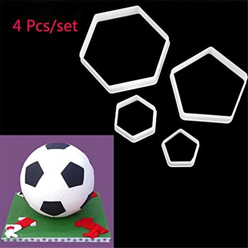 sstecher Set Fußball Ausstechform in verschiedenen Größen Tortenform Fondant Form ()