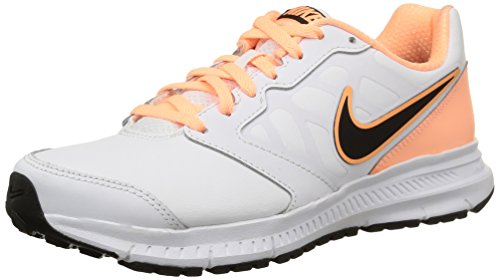 Nike Wmns Downshifter 6 Lea, - homme multicolore (White/Black-Sunset Glow-White)